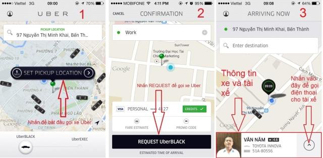 Hướng dẫn cách sử dụng Uber